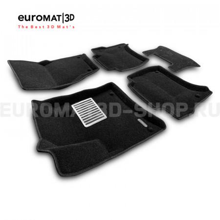Текстильные 3D коврики Euromat3D Lux в салон для Volkswagen Touareg (2010-2017) № EM3D-004101