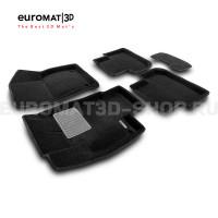 Текстильные 3D коврики Euromat3D Premium в салон для Volkswagen Tiguan (2017-) (Укороченные) № EMPR3D-005415.1