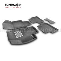 Текстильные 3D коврики Euromat3D Lux в салон для Volkswagen Tiguan (2017-) № EM3D-005415G Серые