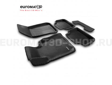 3D коврики Euromat3D EVA в салон для Bmw X1 (E84) (2009-2015) № EM3DEVA-001208
